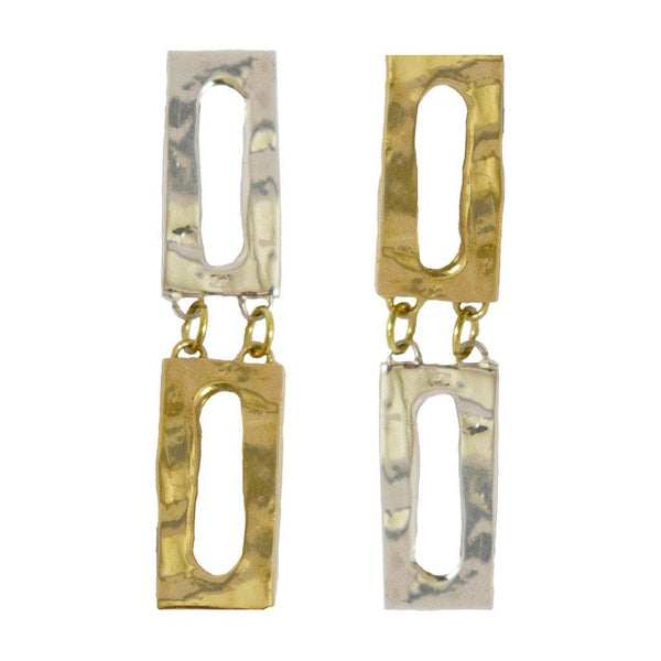 Mixed Metal Rectangle Dangles