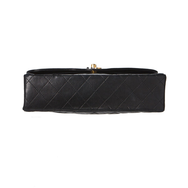 Sold -Chanel Black Double Flap Silver & Gold CC Clasp. Very Rare! Coco et Louis