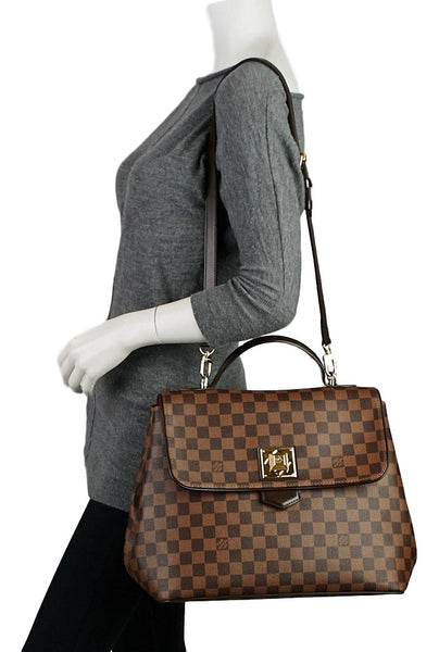 SOLD - Louis Vuitton Damier Ebene Canvas Bergamo GM. So Chic! Coco et Louis