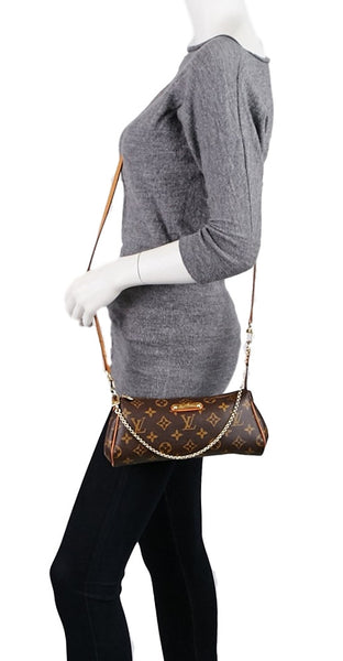 Sold -Louis Vuitton Monogram Eva Clutch, Shoulder and Crossbody Bag. Versatile! Coco et Louis
