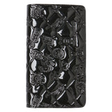 Chanel Black Icon Symbols Charms Patent Leather Wallet. Gorgeous! Coco et Louis