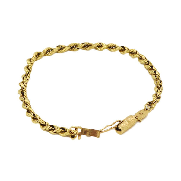 Yellow Gold 14K Rope Chain Bracelet. - Coco et Louis - 1
