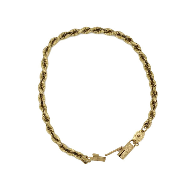 Yellow Gold 14K Rope Chain Bracelet. - Coco et Louis - 3