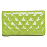 Chanel Lime Green Patent Leather Yen Clutch Wallet.  Lovely! - Coco et Louis - 2