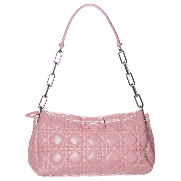 Dior Magnolia Pink Cannage Lambskin New Lock Flap Bag. Fabulous! Coco et Louis