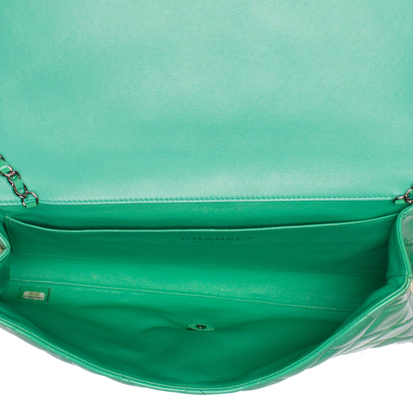 Chanel Green Patent Leather Classic Flap Bag. Stunning! Coco et Louis