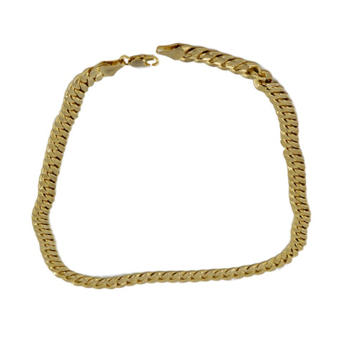Sold -Chanel Cream Lambskin Leather + Double Gold Chain Belt.  Statement Piece!