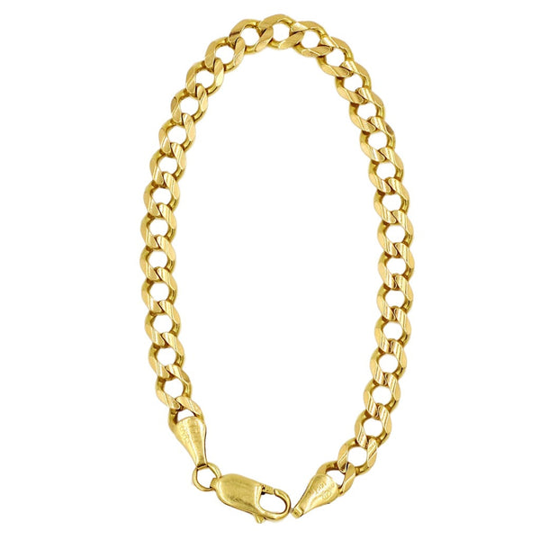 SOLD - Yellow Gold 14K Link Chain Bracelet. Coco et Louis