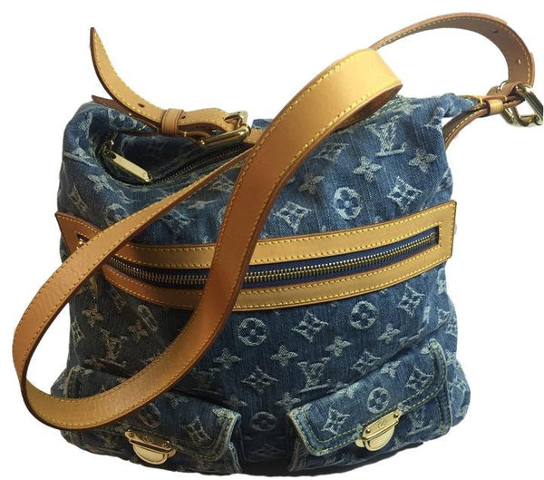 SOLD - Louis Vuitton Blue Denim GM Bag. Darling! Coco et Louis
