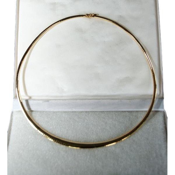 "14k Yellow Gold Omega Necklace. 15.75"" Long - Coco et Louis - 1"