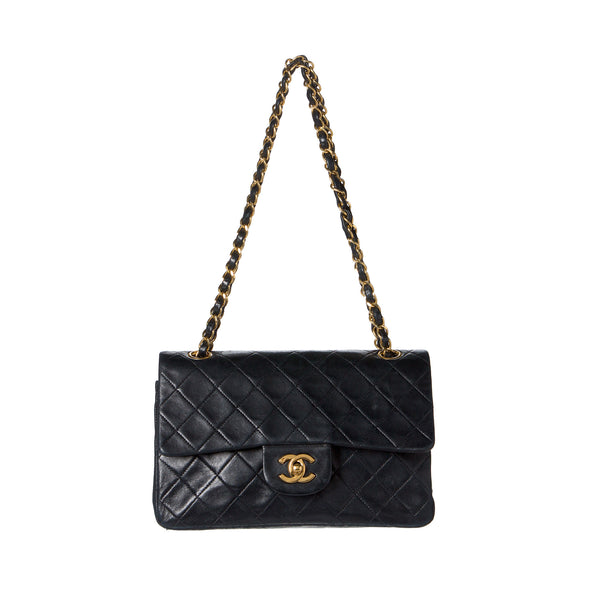 75c3e27de407 SOLD - Chanel Black Classic Medium 2.55 Double Flap Bag. Iconic ...