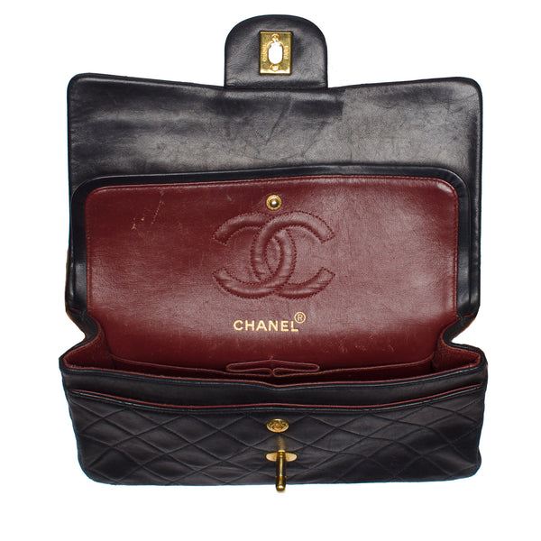 Chanel Black Classic Medium 2.55 Double Flap Bag. Iconic!  ON HOLD for LORNA - - Coco et Louis - 4