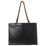 Chanel Black Lambskin Signature XL Shopping Tote. Stunning! Coco et Louis