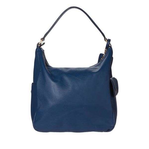 Saint Laurant Blue Leather Multy Hobo Bag. Fabulous! Coco et Louis