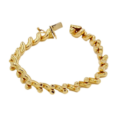 Gold 14K Rope Chain Bracelet.