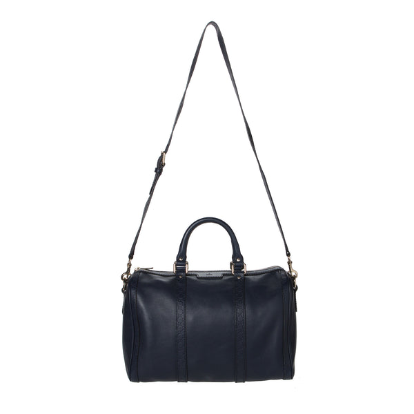 Gucci Navy Blue Boston Bag.  Pure Class! - Coco et Louis - 1