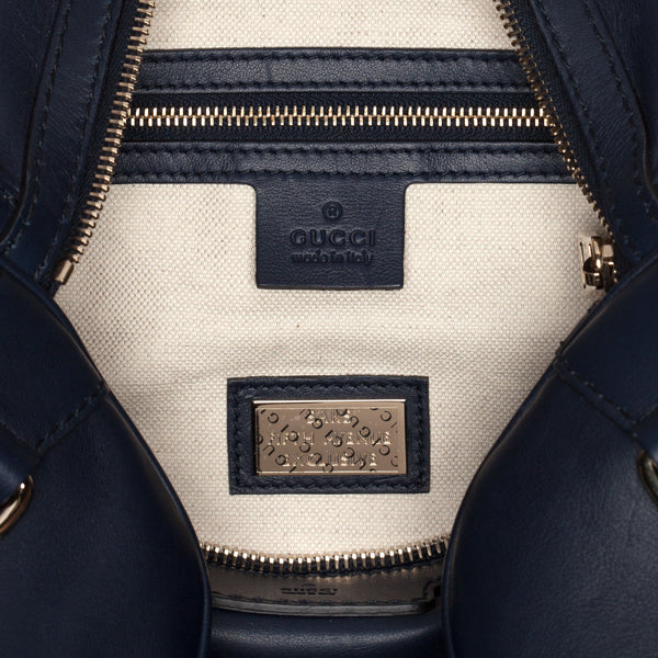 Gucci Navy Blue Boston Bag.  Pure Class! - Coco et Louis - 6