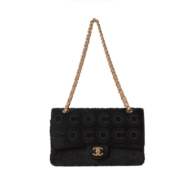 Chanel Black Ponyhair Coco Classic Medium Double Flap Bag.  Stunning! - Coco et Louis - 1