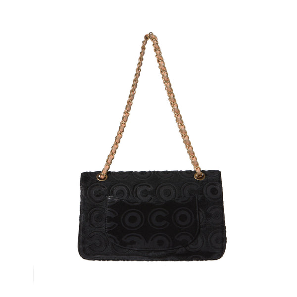 Chanel Black Ponyhair Coco Classic Medium Double Flap Bag.  Stunning! - Coco et Louis - 2