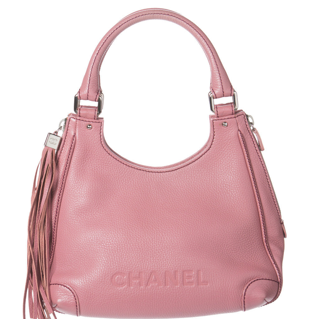 8608ee7890ba Chanel Pink Caviar Leather Tassel Shoulder Bag. So Chic! – Coco et Louis