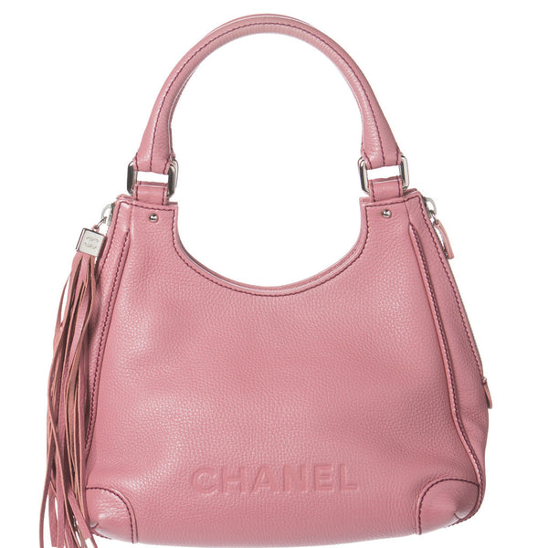 Chanel Pink Caviar Leather Tassel Shoulder Bag. So Chic! Coco et Louis