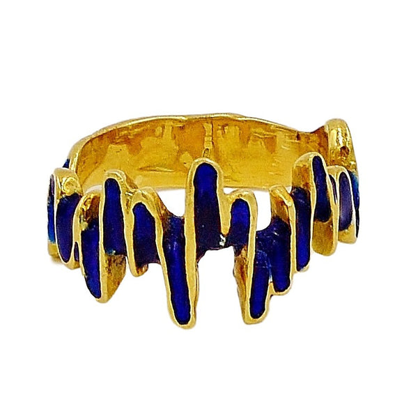 18k Yellow Gold Ring.  Size 8.25. - Coco et Louis - 1