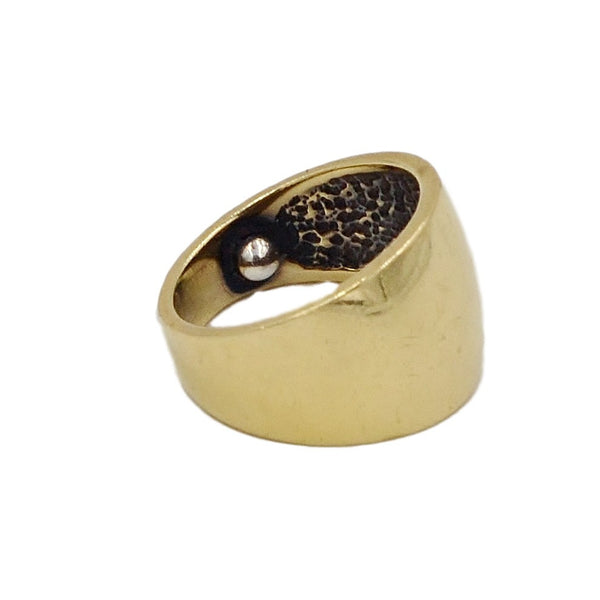 14K Gold Thick Band Ring. - Coco et Louis - 2