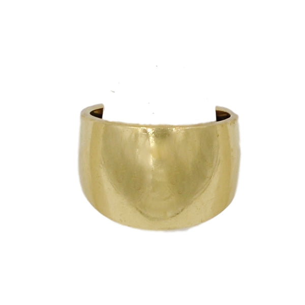 14K Gold Thick Band Ring. - Coco et Louis - 1