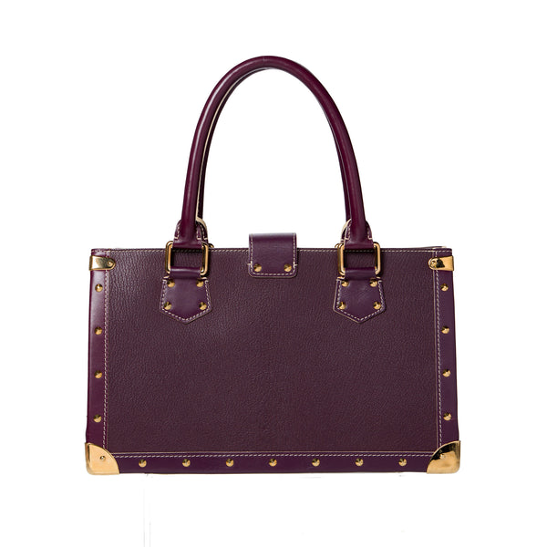 SOLD - Louis Vuitton Purple Suhali Le Fabuleux. Pure Class! Coco et Louis