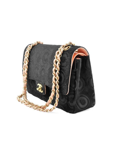 Chanel Black Ponyhair Coco Classic Medium Double Flap Bag.  Stunning! - Coco et Louis - 3