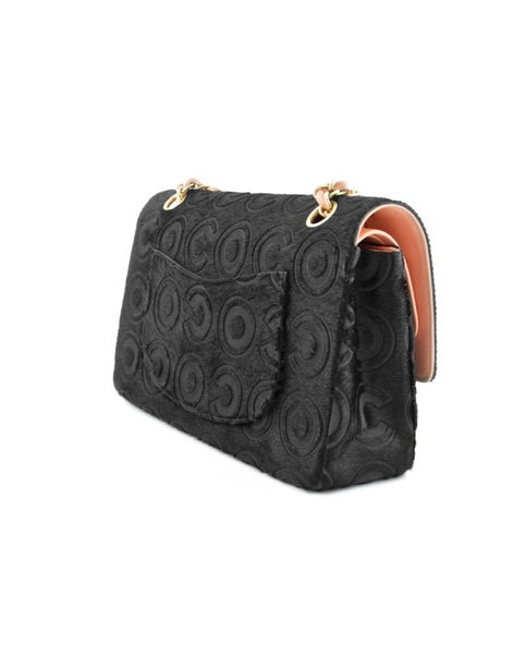 Chanel Black Ponyhair Coco Classic Medium Double Flap Bag.  Stunning! - Coco et Louis - 4