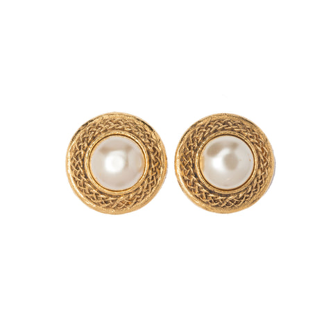 Chanel Black and Beige Camellia Earrings. Beautiful!
