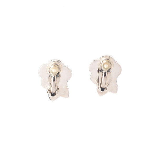 Chanel Black and Beige Camelia Earrings. Beautiful! - Coco et Louis - 2