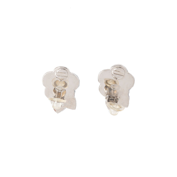 Chanel Black and Beige Camelia Earrings. Beautiful! - Coco et Louis - 3