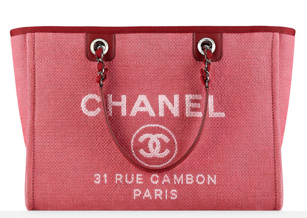 Chanel Pink Deauville Tote Bag. Pretty! Coco et Louis