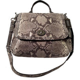 SOLD - Coach Python Leather Satchel Flap Bag.  New with Tags.