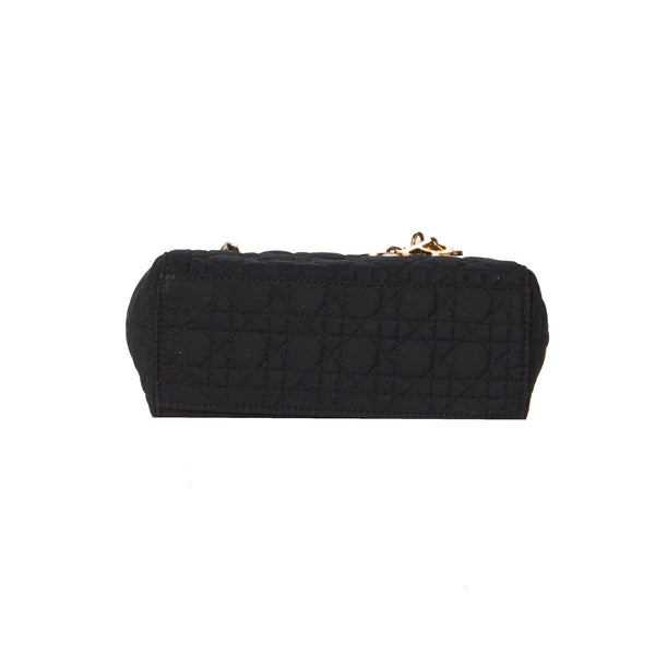 Dior Black Mini Cannage Lady Dior 2-Way Bag. Timeless! Coco et Louis