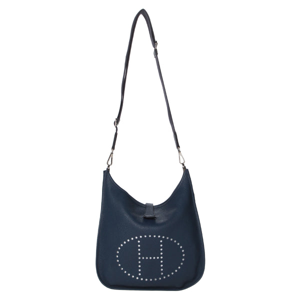 Hermes Blue Evelyn III PM Messenger Bag.  Gorgeous! - Coco et Louis - 1