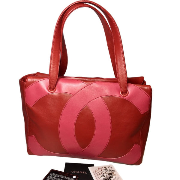 Chanel Red Pebble Leather Large Tote Bag. Fabulous! Coco et Louis