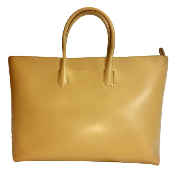 Furla Yellow Calf Leather Shoulder Bag.  Beautiful!