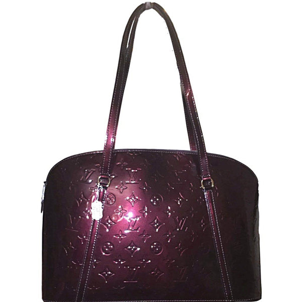 SOLD - Louis Vuitton Avalon Rouge Fauviste Vernis Shoulder Bag.  Stunning!