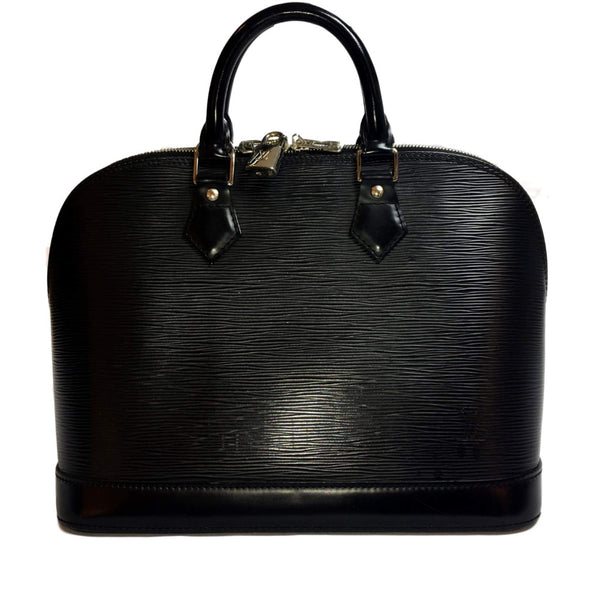 0c3aac9c99d3 Louis Vuitton Black Alma Epi PM Bag. Gorgeous! – Coco et Louis