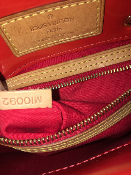 SOLD - Louis Vuitton Red Vernis Reade PM Tote.  Too Cute!
