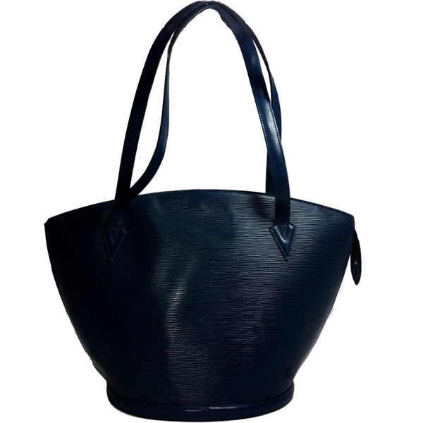 be0290093923 Louis Vuitton Blue Epi GM Shopping Tote Bag. Beautiful! – Coco et Louis