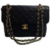 SOLD - Chanel Black Single Flap Medium Bag.  Classic!