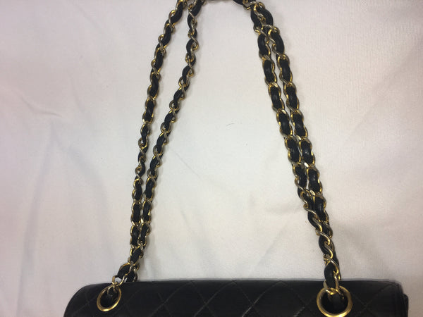 SOLD - Chanel Black Double Flap Large Bag.  Classic!