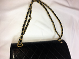 Sold - Chanel Black Double Flap Large Bag.  Iconic!