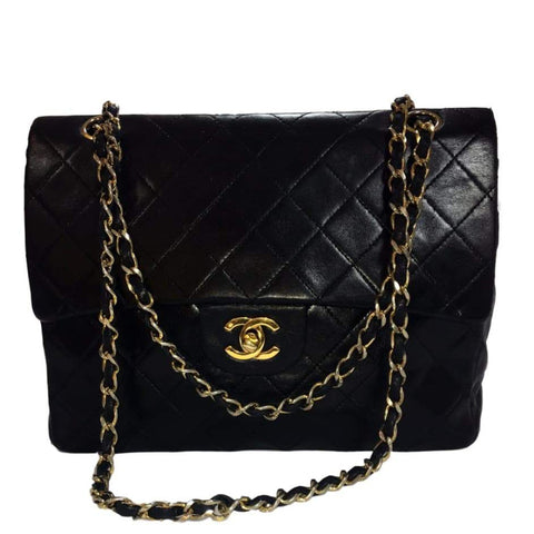 SOLD - Chanel Black Distressed Caviar Leather Cabas Jumbo Bag.  Perfection!