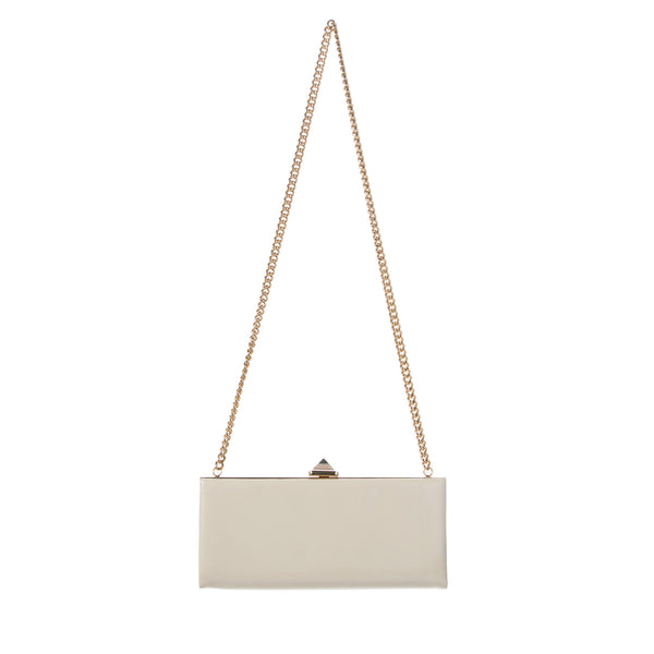 Louboutin White and Gold Clutch/Crossbody. Stunning! Coco et Louis