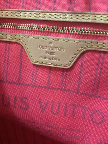 SOLD - Louis Vuitton Pink V Ltd Edition Neverfull Bag - SO HOT!
